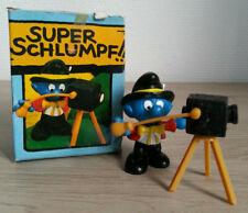 SUPER SMURF SCHTROUMPF PHOTOGRAPHE 40217 Schleich NEUF COMPLET