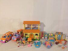 Dora The Explorer Pop-Up Talking Doll House LOADED Greenhouse Truck Van & LOT