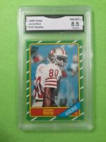 1986 Topps Football Jeryy Rice #161 HOF Rookie GMA 8.5  San Francisco 49ers Rc!
