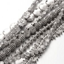 10Strands Antique Silver Mixed Tibetan Style Alloy Bead Design 4~20mm hole:1~2mm