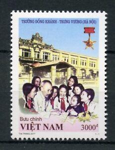 Vietnam 2017 MNH Trung Vuong Hanoi School 1v Set Education Architecture Stamps