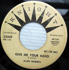 ALLEN ROBERTS with doowop group 45 ANGEL IN MY LIFE b/w GIVE ME YOUR HAND  JR439
