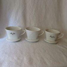 3 Melitta Kaffee-Filter Porzellan Kaffeefilter 4/3 Loch 101 grüne/weiße Schrift