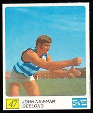 1970 Kelloggs John Sam Newman Geelong Large card no. 47 Near Mint r