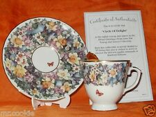 Circle of Delight by Lena Liu on Floral Greetings Teacup Saucer & Spoon Set Coa