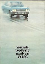 Vauxhall VX 4/90 FD 1970-72 UK Market Sales Brochure Victor