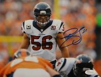 Brian Cushing Autographed Texans 8x10 Front View On Field Photo- JSA W Auth