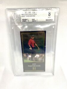 1997-98 Grand Slam Ventures Masters Collection #1997 Tiger Woods RC BGS 8 NM-MT