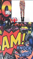 Comic BAM POW  Print Summer Leggings Trousers One size UK8-10
