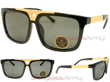 EVIDENCE Sunglasses BLACK & GOLD w/ GLASS G15 LENS men women designer celebrity