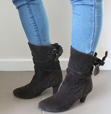 Unbranded brown heeled boots women Eur 39 US-Aus 8 UK 6 USED