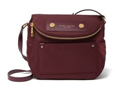 NWT Marc Jacobs Preppy Mini Natasha Small Nylon Crossbody bag WINE RED AUTHENTIC