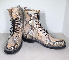 Frye Veronica Combat Women's 8.5B Tan Multi Snake Print Leather Boots XF3-92*