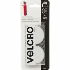 """VELCRO Brand Industrial Strength Coins 1.875"""" 4/Pkg-White -90363"""