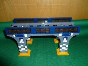 LEGO TRAIN TRENO EISENBAHN ZUG CITY PONTE BRIDGE EISENBAHNBRÜCKE INSTRUCTIONS