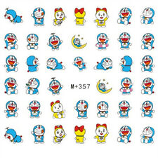 40 Cute Japanese Anime Doraemon Decals Water Nail Art Sticker for Nail Polish