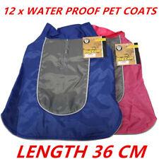12 x MEDIUM WATERPROOF DOG RAIN JACKET 36cm Pet Clothes Puppy Dog Coat Vest