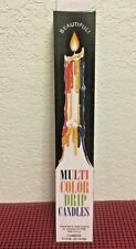 """Multi-Color Taper Drip Candles 9.5"""" (One Box of Two) Candles (Select # of Boxes)"""