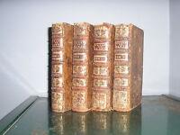 Oeuvres de Monsieur de Tourreil de l'académie françoise 1721 4 vol. complet Rare