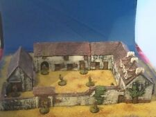 Painted Haye sainte Farm, wargames scenery and terrain buildings. For 10mm, 15mm