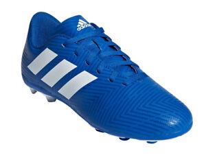 Adidas Kids Shoes Boys Football Nemeziz 18.4 Firm Ground Soccer Boots New DB2357