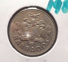 CIRCULATED 1981 25 CENTS BARBADOS COIN! (83115)