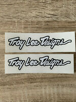 x2 STICKERS TROY LEE DESIGN - 2,7x12cm - mx bike cross bmx autocollant hellmet