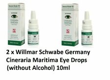 2 x Dr Willmar Schwabe Germany Cineraria Maritima Eye Drops (Without Alcohol)