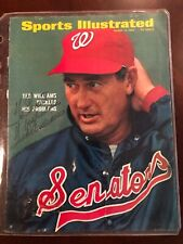 Ted Williams Autographed SI Cover W/ JSA Letter Of Authenticity.  Senators 1969.