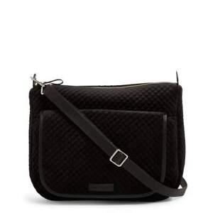 NWT Vera Bradley CARSON Shoulder Bag Black Velvet Quilted msrp $138