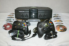 Clean Xbox Original Console Bundle With 12 Games,A/V Cords, & 2 Controllers