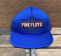Pink Floyd Trucker Hat Vintage Trucker Hat Blue Mesh Pink Floyd Snapback Hat