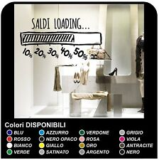 Vetrofania Adesivi saldi per vetrine negozi - Saldi loading - Misure 90x60 cm