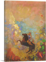 ARTCANVAS Muse auf Pegasus 1900 Canvas Art Print by Odilon Redon