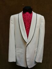 1960s White with pinstripe Dinner Jacket multiple sizes Hairspray