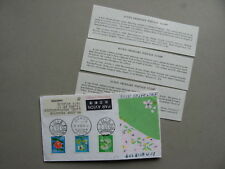 JAPAN, cover FDC to Belgium 1980, flowers butterfly