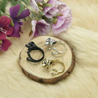 Einstellbare Ring Schmuck Labrador Puppy Dog Animal Wrap Ring L4G8