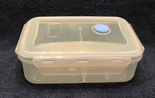 Microwavable Divided Food Container With Steam Valve