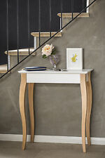 Designer scandinavian small modern console table wood white contemporary