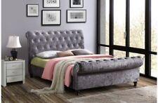 Cadres de lit et lits coffres gris acier pour la maison