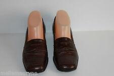 Zapatos MANFIELD En Piel Marrón Oscuro Estilo Cocodrilo T 36.5 BE