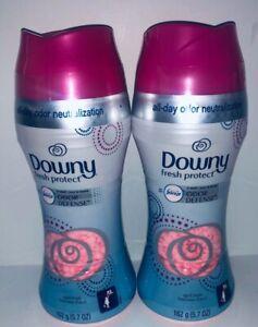 2 Downy Fresh Protect In Wash Odor Defense April Fresh 162 g / 5.7 oz