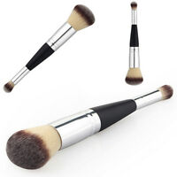 Beauty Double Ended Eyeshadow Makeup Brush Liquid Foundation Powder Cosmetic TOP