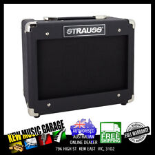 STRAUSS LEGACY 15 WATT SOLID STATE GUITAR PRACTICE AMPLIFIER BLACK