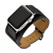 Apple Watch Genuine Leather Band Cuff Bracelet Strap Series 4 3 40mm 44mm iWatch