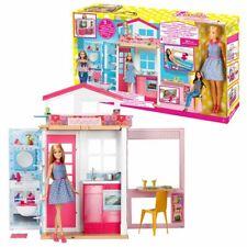 2 Etagen Ferienhaus | Barbie | Mattel DVV48 | Haus mit Puppe, Möbel & Zubehör