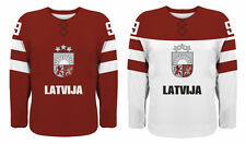 NEW 2017 Team Latvia Hockey Jersey NHL Latvija Girgensons Ozolins Redlihs