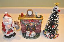 4pc Eddie Walker Santa Set Night Before Xmas Set Fireplace Tree Cat Limited Ed