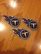 NFL Lot Of (3) Tennessee Titans 3 X 2 Inch Iron On Patch Lot