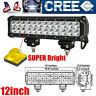 72W CREE 12 inch Led  Work Light Bar Driving Fog Off Road Jeep Truck SUV ATV 4X4